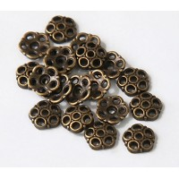 8mm Circles Bead Caps, Antique Brass, Pack of 40