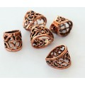 13x11mm Ornate Filigree Bail, Genuine Copper, 1 Piece