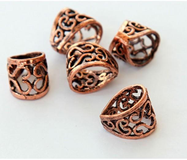 13x11mm Ornate Filigree Bail, Genuine Copper, 1 Piece