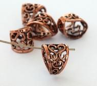 13x11mm Ornate Filigree Bail, Genuine Copper