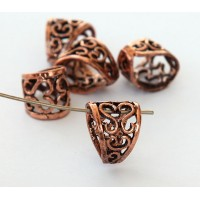 13x11mm Ornate Filigree Bail, Genuine Copper