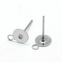 6mm Stainless Steel Earstud Blank with Loop