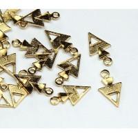 12mm Arrowhead Charms, Gold Tone