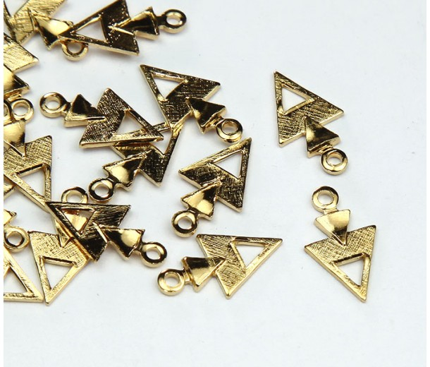 12mm Arrowhead Charms, Gold Tone
