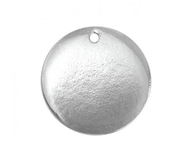 24mm Circle Stamping Blank, Pewter