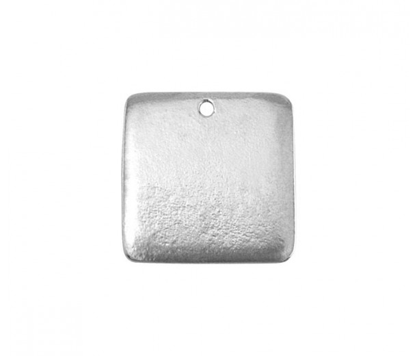19mm Square Stamping Blank, Pewter