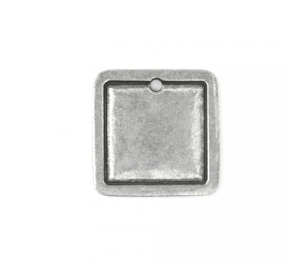 25mm Square Frame Stamping Blank, Pewter