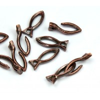 16mm Rustic Fish Hook Clasp, Bronze