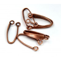 22mm Slim Donut Bail by JBB Findings, Antique Copper