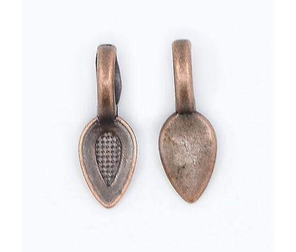 25mm Simple Flat Pad Bails, Antique Copper