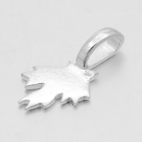 21mm Maple Leaf Glue-On Flat Pad Bails, Silver Tone