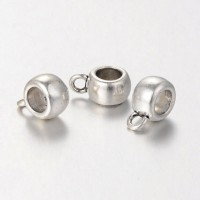 12x8mm Puffy Slider Bails, Antique Silver