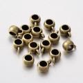 10x7mm Puffy Slider Bails, Antique Brass