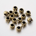 10x7mm Puffy Slider Bails, Antique Brass, Pack of 10
