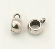 10x7mm Puffy Slider Bails, Antique Silver