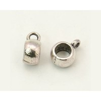 10x7mm Puffy Slider Bails, Antique Silver