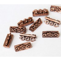 14x5mm Swirl Spacer Bar, Antique Copper