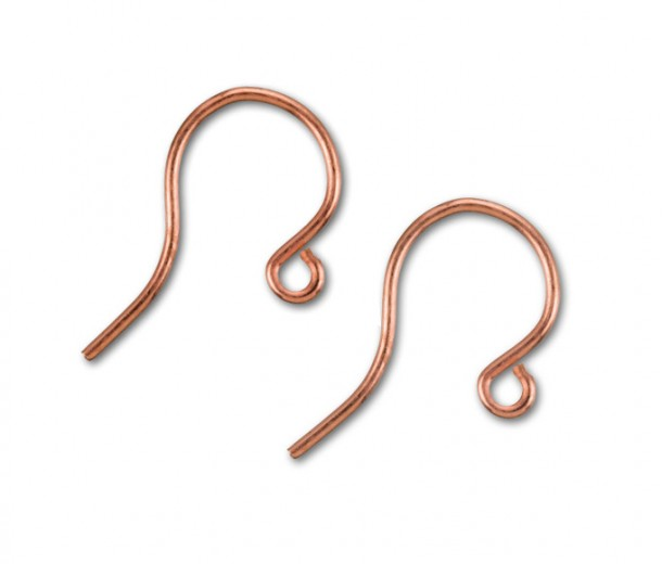 16mm French Hook Ear Wires, Genuine Copper
