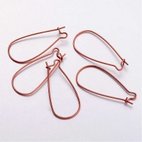 40mm Kidney Ear Wires, Antique Copper, Pack of 20