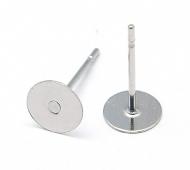 10mm Stainless Steel Earstud Blank