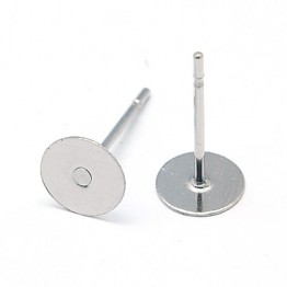 10mm Stainless Steel Earstud Blank