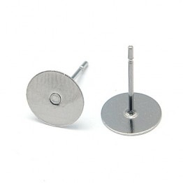 12mm Stainless Steel Earstud Blank