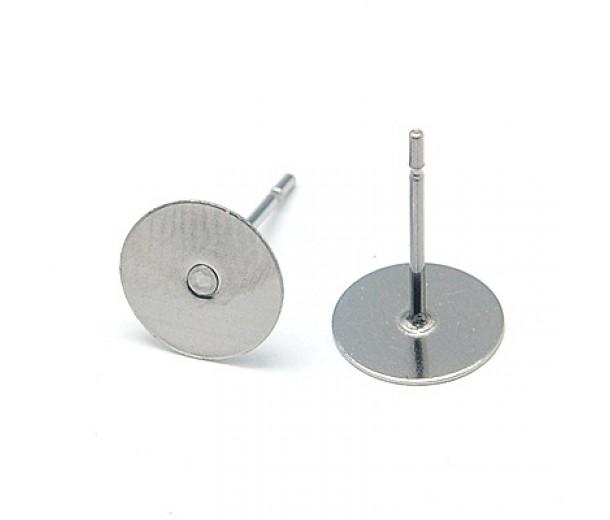 12mm Stainless Steel Earstud Blank
