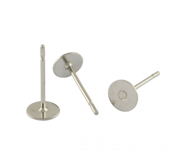 5mm Stainless Steel Earstud Blanks, Pack of 50
