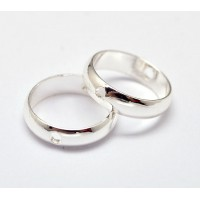 8mm Bead Frame Rings With 2 Holes, Fit 6mm Beads, Silver Tone