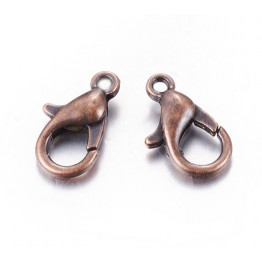 12x7mm Lobster Clasps, Antique Copper
