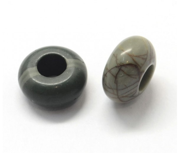 Picasso Jasper Large Hole Beads, 14x7mm Rondelle, 5mm Hole