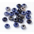 Sodalite Large Hole Beads, Blue, 12x8mm Rondelle, 5mm Hole