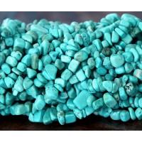 Howlite Beads, Light Teal, Medium Chip