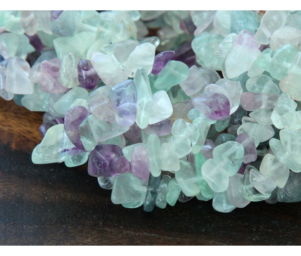 Fluorite Beads, Natural, Medium Chip