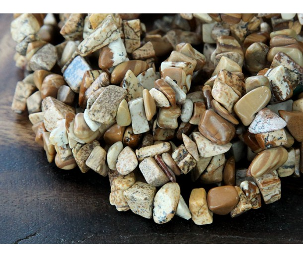 Picture Jasper Beads, Medium Chip