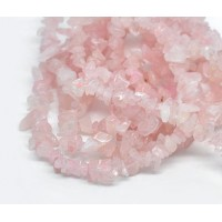 Rose Quartz Beads, Medium Chip