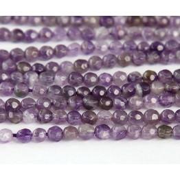 Amethyst Beads, Medium Purple, 4mm Faceted Round