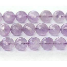Amethyst Beads, Light Purple, 8mm Faceted Round