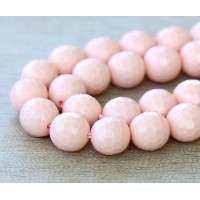 Imitation Turquoise Beads, Light Coral, 10mm Faceted Round