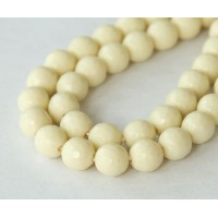 Imitation Turquoise Beads, Light Yellow, 8mm Faceted Round