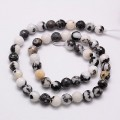 Mexican Zebra Jasper Beads, 10mm Faceted Round