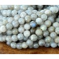 Labradorite Beads, Natural, 5-6mm Faceted Round