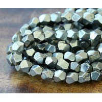 Pyrite Beads, 7mm Faceted Nugget