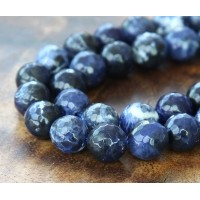 Sodalite Beads, 10mm Faceted Round