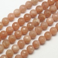 Sunstone Beads, 10mm Faceted Round