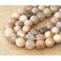 Sunstone Beads, 8mm Faceted Round