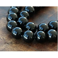 Black Agate Beads, 10mm Round