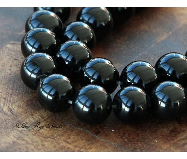 Black Agate Beads, 10mm Round