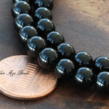 Black Agate Beads, 6mm Round