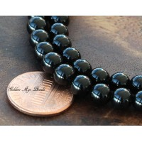 Black Agate Beads, 6mm Round